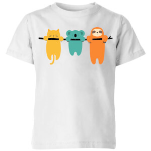 Andy Westface Hang In There Kids' T-Shirt - White