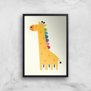 Andy Westface Giraffe Piano Giclee Art Print