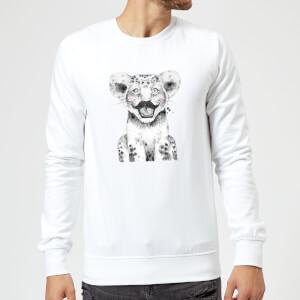 Moustache Cub Sweatshirt - White