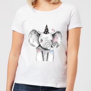 Party Elephant Women's T-Shirt - White