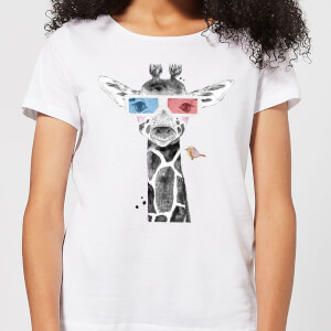 3D Giraffe Women's T-Shirt - White