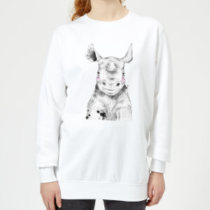 Blushed Rhino Women's Sweatshirt - White