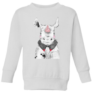 Clown Rhino Kids' Sweatshirt - White