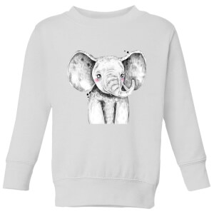 Cute Elephant Kids' Sweatshirt - White