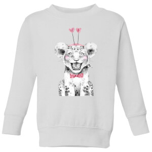 Hearty Cub Kids' Sweatshirt - White
