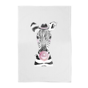 Bubblegum Zebra Cotton Tea Towel