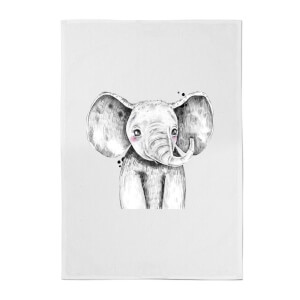 Cute Elephant Cotton Tea Towel