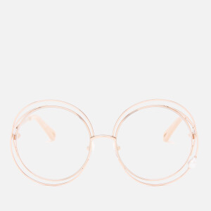 Chloé Women's Carlina Pearl Round Frame Sunglasses - Rose Gold/Pearl