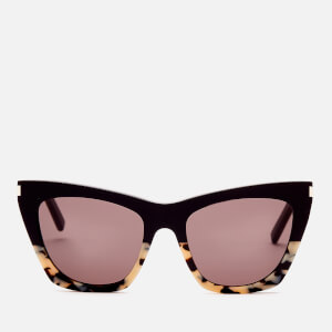 Saint Laurent Women's Kate Cat Eye Acetate Sunglasses - Havana/Black