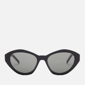 Saint Laurent Women's Cat Eye Acetate Sunglasses - Black/Grey