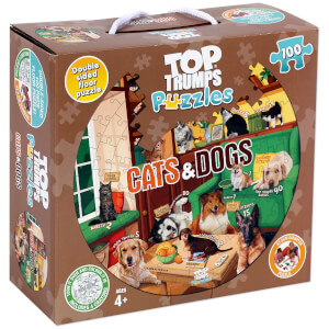100 Piece Jigsaw Puzzle - Top Trumps Cats & Dogs Edition