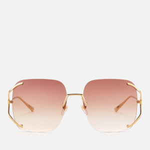 Gucci Women's Oversized Square Frame Sunglasses - Gold/Brown