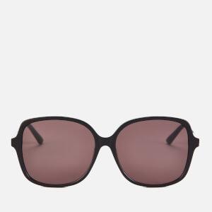 Bottega Veneta Women's Oversized Square Frame Sunglasses - Black/Grey
