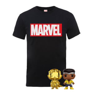 Pack Marvel: Camiseta + 2 Funko Pop!