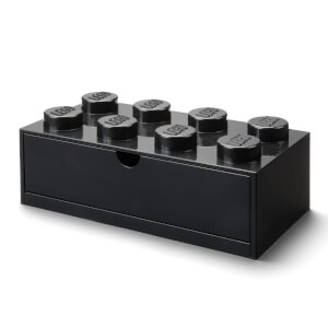 LEGO Storage Desk Drawer 8 - Black