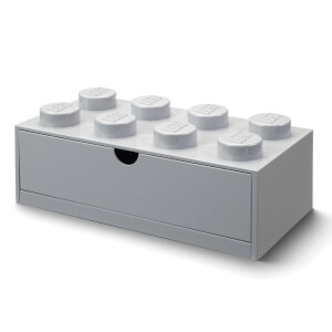 LEGO Storage Desk Drawer 8 - Grey