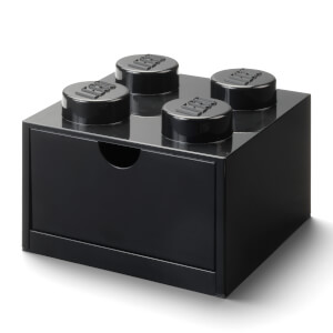 LEGO Storage Desk Drawer 4 - Black