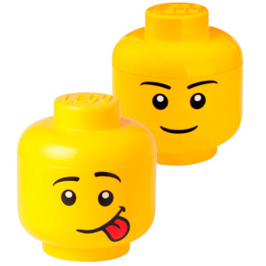 LEGO Storage Head Bundle (Includes 1 Boy and 1 Silly Small Storage Head)