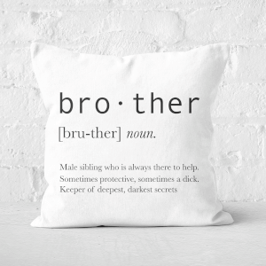 Brother Definition Square Cushion