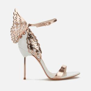 Sophia Webster Women's Evangeline Heeled Sandals - White/Rose Gold