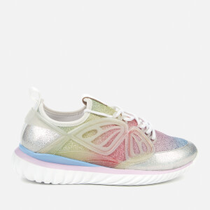 Sophia Webster Women's Fly-By Running Style Trainers - Silver/Pastel
