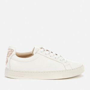 Sophia Webster Women's Butterfly Leather Trainers - White/Rose Gold
