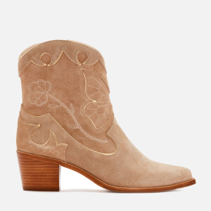 Sophia Webster Women's Shelby Suede Mid Ankle Boots - Taupe
