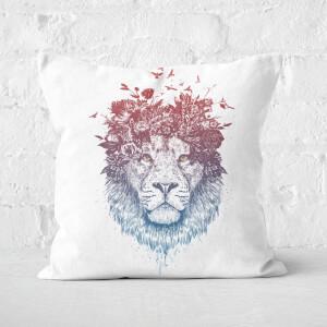 Floral Lion 2 Cushion Square Cushion