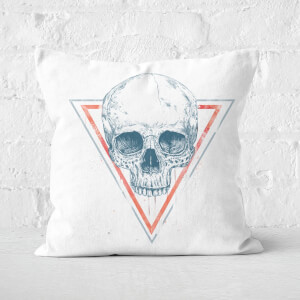 Skull In Triangles Cushion Square Cushion