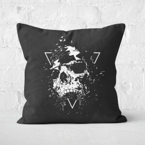 Skull X Black & White Cushion Square Cushion