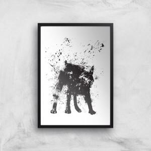 Wet Dog Print Giclee Art Print