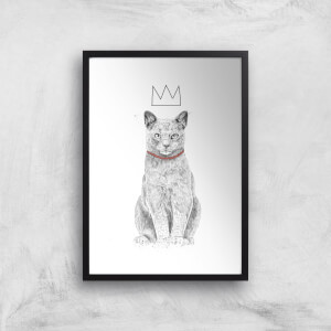 King Of Everything Black & White Giclee Art Print