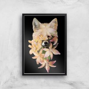 Foxy Flowers Giclee Art Print