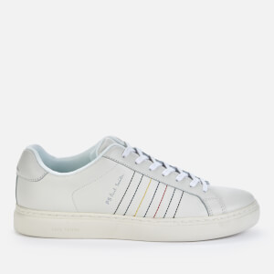 PS Paul Smith Men's Rex Embroidered Stripe Leather Trainers - White