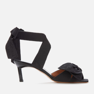 Ganni Women's Bow Heeled Sandals - Black