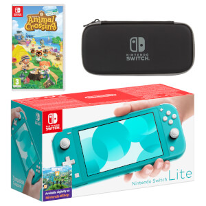 Nintendo Switch Lite (Turquoise) Animal Crossing: New Horizons Pack
