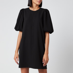 Ganni Women's Heavy Crepe Mini Dress - Black