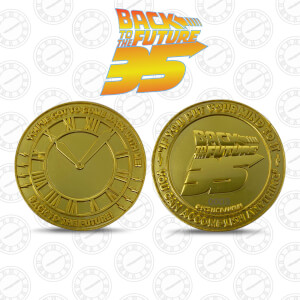 Back to the Future 35th Anniversary Gold Edition Coin
