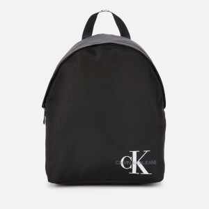 Calvin Klein Jeans Women's Nylon Logo Backpack - Black