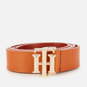 Tommy Hilfiger Women's Logo Belt - Cognac