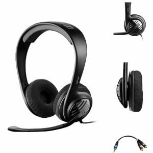 Sennheiser GSP 107 Double-Sided Gaming Headphones with PVC