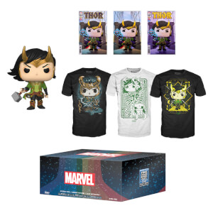 PX Previews Marvel Loki EXC Mystery Funko Pop! & Tee Bundle