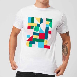 Pusheen Geometric Block Men's T-Shirt - White