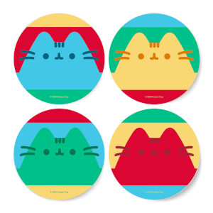 Pusheen Stripe Coaster Set