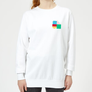 Pusheen Square Blocks Women's Sweatshirt - White
