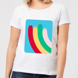 Pusheen Half Rainbow Women's T-Shirt - White