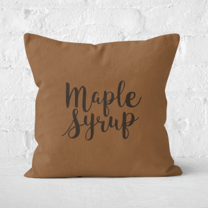 Maple Syrup Square Cushion