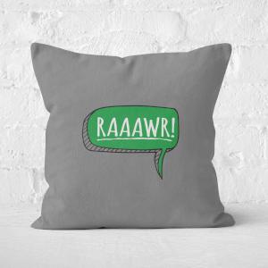 Raaawr Square Cushion