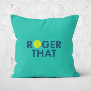 Roger That Square Cushion