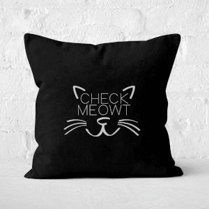 Check Meowt Square Cushion